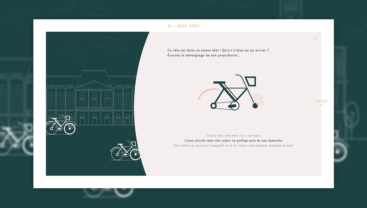 Ecoute d'un témoignage - Webdesign du site O mon vélo
